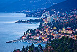 Opatija riviera bay bay and coastline view