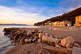 Moscenicka Draga village beach at sunrise