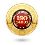 ISO 14001 certified medal - Environmental management insignia