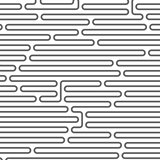 Maze style horizontal pattern - rounded lines