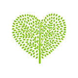 Tree icon heart