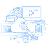 Cloud computing service and internet abstract design