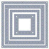 Square frame with greek ornament, meander style pattern