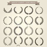 Laurel Wreaths set in different style