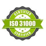 ISO 31000 standard certificate badge - risk management