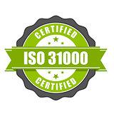 ISO 31000 standard certificate badge - risk management