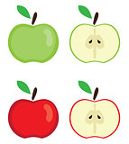 vector apples set