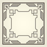 Art deco style square frame with stright lines