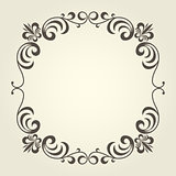 Flourish square frame with ornate curly borders
