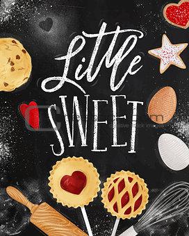 Poster little sweet chalk
