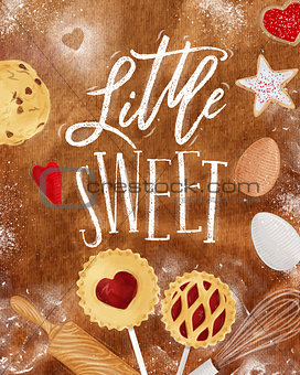 Poster little sweet craft