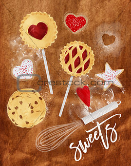 Poster sweets craft