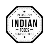 Delicious Indian Foods vintage stamp