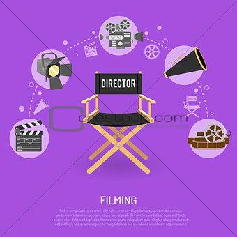 Cinema and filming concept