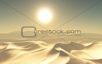 3D hot desert scene