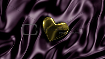 3D illustration Abstract background with Gold Heart