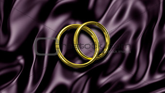 3D illustration Abstract Background with Rings
