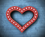 Vector marquee heart symbol