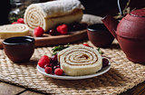 Biscuit Roll for with Berries.