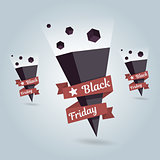 Pointer Black Friday vector icon. Location symbol.