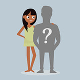 Who is your guy. Boy friend. Cartoon character illustration.
