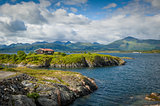 House at Atlantic Road rocks, Norway