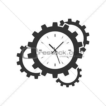 Clock gear icon