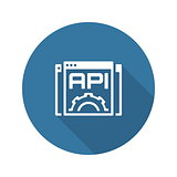 Settings API Icon. Flat Design.