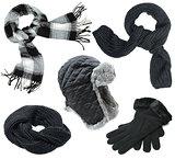 Black winter clothes