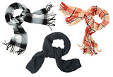 Three different scarfs