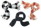 Three different scarfs
