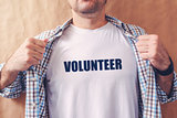 Man is volunteer