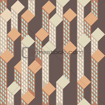 Top view on abstract houseblocks vector background