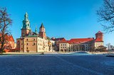 Yard square of Wawel castle in Krakow