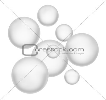 Beautiful spheres. Isolated on white