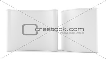 Advertising space on white background