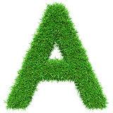 Green Grass Letter A