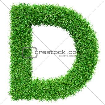 Green Grass Letter D