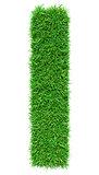 Green Grass Letter I