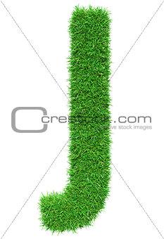 Green Grass Letter J