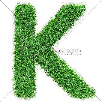 Green Grass Letter K