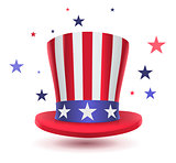 Uncle sam hat symbol of Presidents day