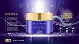 Digital vector glass face cream purple container