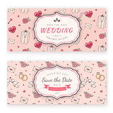 Wedding banner template.