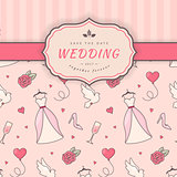 Wedding card template.