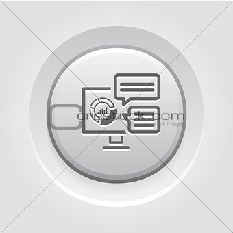 Analytics System Icon. Flat Design.