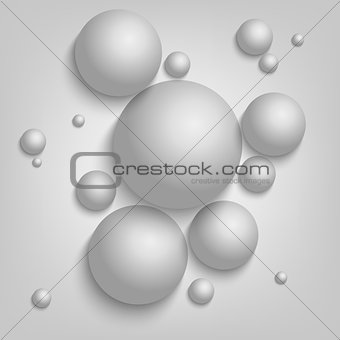 Abstract background with gray balls template