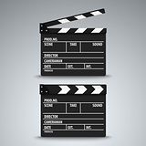 Open and closed film flap template