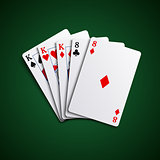 Poker hand cards full house template