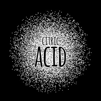 Citric acid as a white powder vector illustration